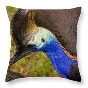 Southern Cassowary Throw Pillow