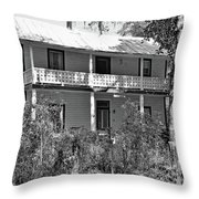 Southern Charm Black And White Throw Pillow
