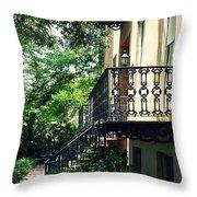Southern Charm In Savannah  Throw Pillow