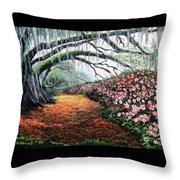 Southern Charm Oak And Azalea Throw Pillow