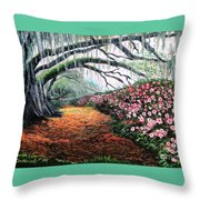 Southern Charm Oak And Azalea Throw Pillow