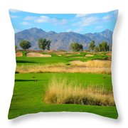 Southern Dunes Golf Club - Hole #14 Throw Pillow