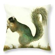 Southern Fox Squirrel Peanut Throw Pillow