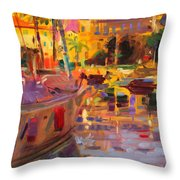 Southern French Port Throw Pillow