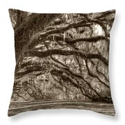 Southern Live Oak Trees Throw Pillow