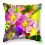 Southern Missouri Wildflowers 1 - Digital Paint 1 Throw Pillow