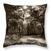 Southern Oak Shadows Throw Pillow