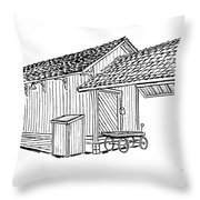 Southern Pacific Depot, Skull Valley, Az Throw Pillow