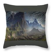 Southern Pacific Mountain Throw Pillow