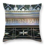 Southern Railway Building Throw Pillow