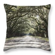 Southern Road Throw Pillow