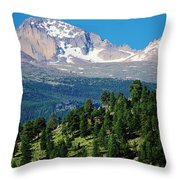 Southern Rockies Summer Mountains Throw Pillow