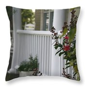 Southern Summer Flowers And Porch Throw Pillow