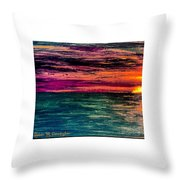 'southern Sunset' Throw Pillow