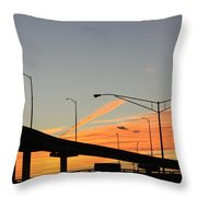 Southern Sunsets Throw Pillow