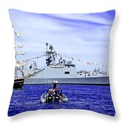 Southern Swan Cruising By Throw Pillow