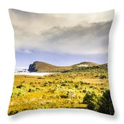 Southern Tip Of Bruny Island Throw Pillow