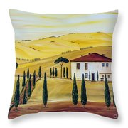 Southern Tuscany Throw Pillow