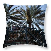 Southernmost Hotel Entrance In Key West Throw Pillow