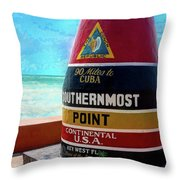 Southernmost Point Throw Pillow