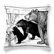 Southey: Three Bears, 1892 Throw Pillow