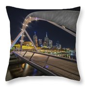 Southgate Bridge At Night Throw Pillow