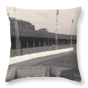 Southport Fc - Haig Avenue - Old Main Stand - Bw - Early 60s Throw Pillow