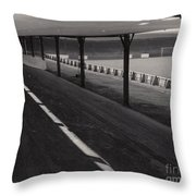 Southport Fc - Haig Avenue - Scarisbrick End 1 - Bw - Early 60s Throw Pillow