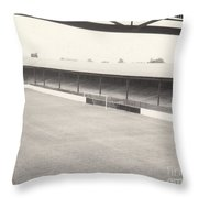 Southport Fc - Haig Avenue - Scarisbrick End 2 - Bw - Early 60s Throw Pillow
