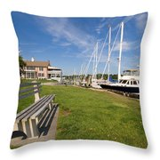 Southport Harbor Connecticut Throw Pillow