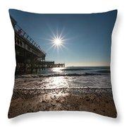 Southsea Pier Throw Pillow