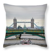 Southwark Bridge And The Tower Bridge Throw Pillow