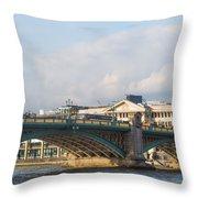 Southwark Bridge  Throw Pillow