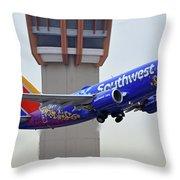 Southwest 737-7l9 N7816b Coco Phoenix Sky Harbor November 30 2017 Throw Pillow