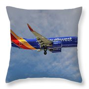 Southwest Airlines Boeing 737-76n Throw Pillow
