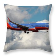 Southwest Airlines Boeing 737-700 Throw Pillow
