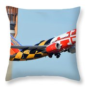 Southwest Boeing 737-7h4 N214wn Maryland One Phoenix Sky Harbor January 19 2016 Throw Pillow