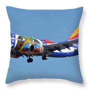Southwest Boeing 737-7h4 N280wn Missouri One Phoenix Sky Harbor January 24 2016 Throw Pillow