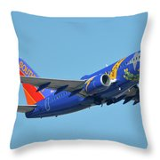 Southwest Boeing 737-7h4 N727sw Nevada One Phoenix Sky Harbor October 14 2017 Throw Pillow