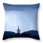 Southwest Desert Lightning Blues Throw Pillow