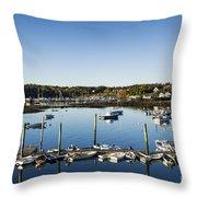 Southwest Harbor Maine Throw Pillow