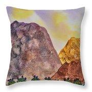 Southwest Landscape II Throw Pillow