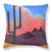 Southwest Scene Throw Pillow