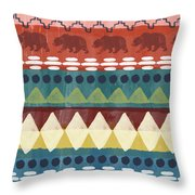Southwest With Bears- Art By Linda Woods Throw Pillow