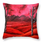Southwestern Abstract Oil Painting Throw Pillow