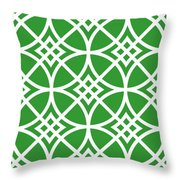 Southwestern Inspired With Border In Dublin Green Throw Pillow