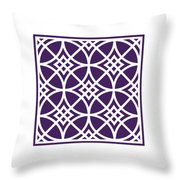 Southwestern Inspired With Border In Purple Throw Pillow