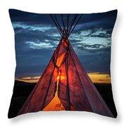 Southwestern Teepee Sunset Throw Pillow