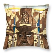 Souvenirs At Coba Village Throw Pillow