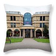 Sovereign Shopping Centre - Entrance From The Garden Throw Pillow